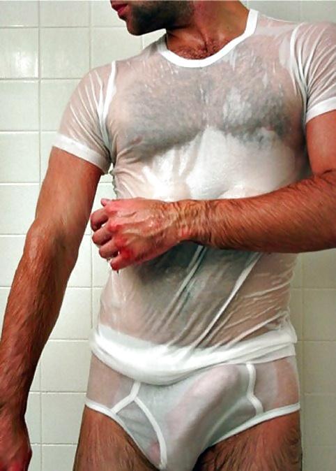 Gay see thru underwear tight