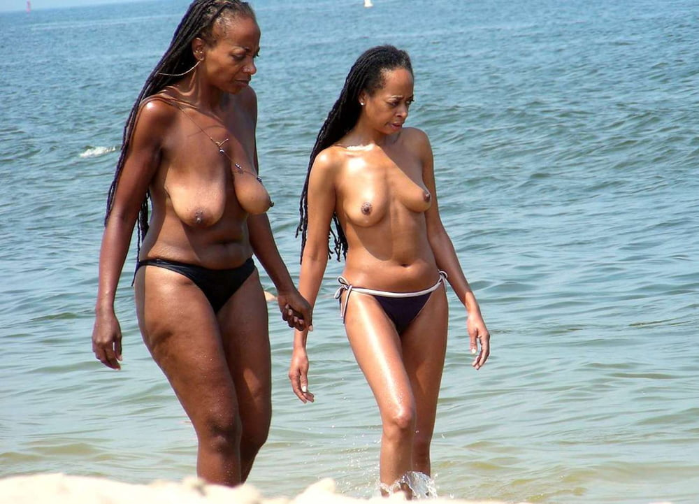 Ebony mother and daughter naked