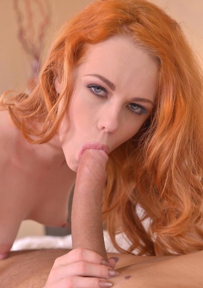 Redhead sucking a blonde pussy, ebony strapon sex