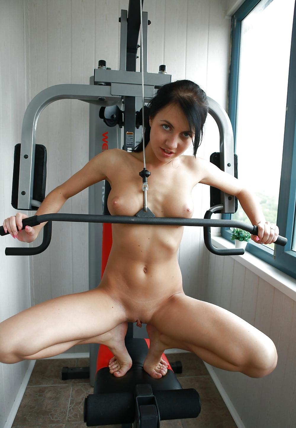 Hot Naked Girls Working Out Gym