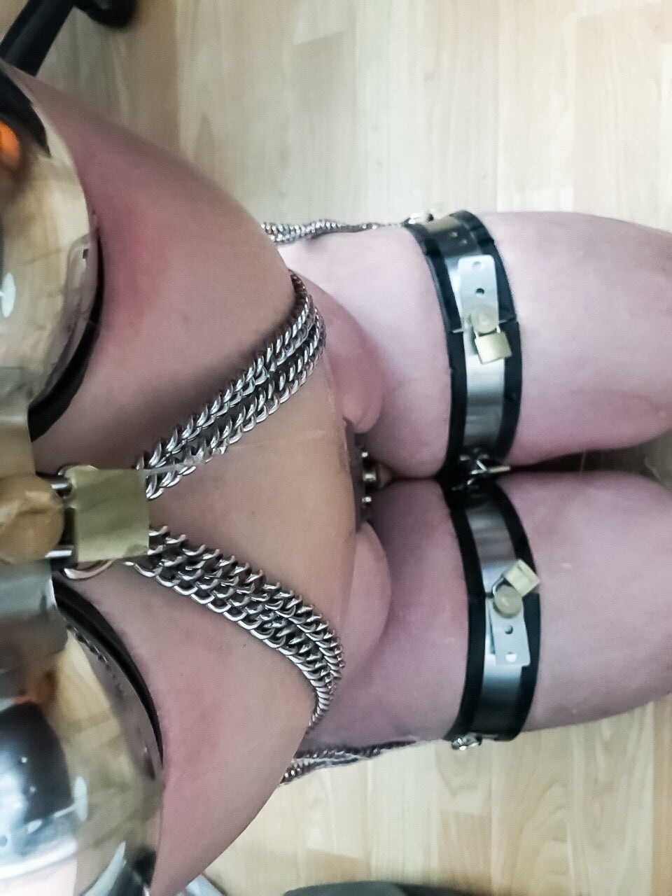 Engraved Lock For Chastity Play And Bondage