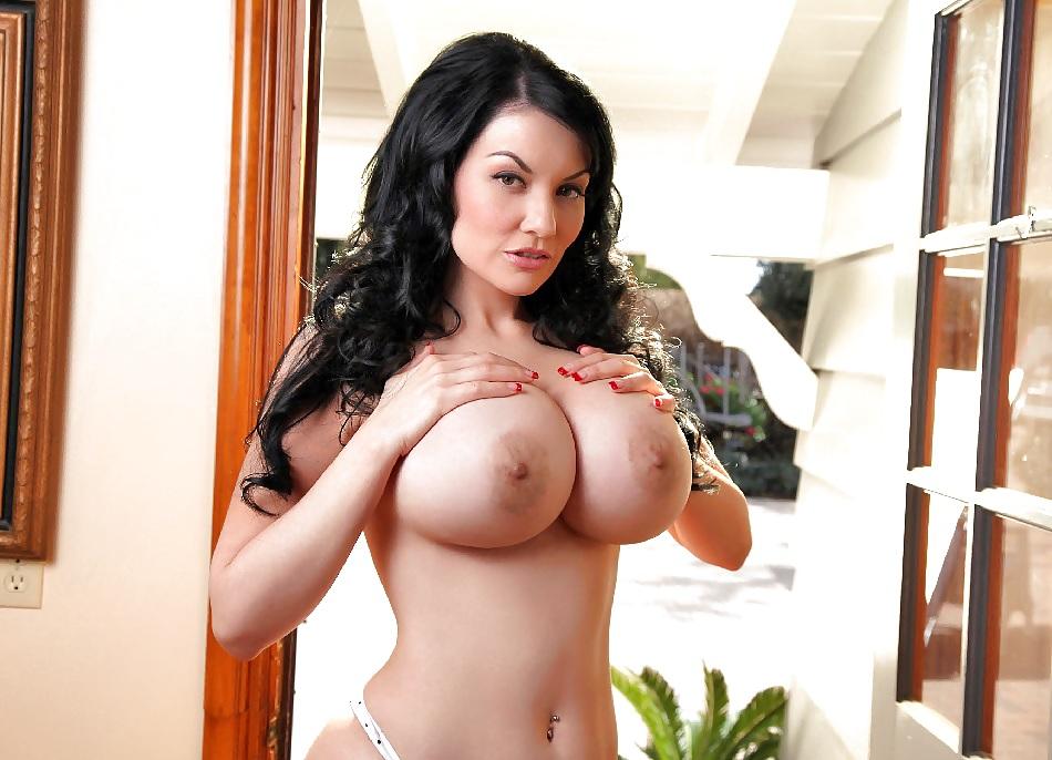 Naked big boobs dark haired beauty