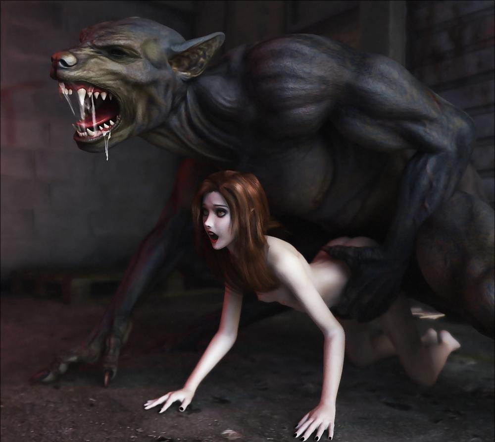 Steamy werewolf sex