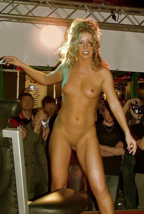 women on stage Naked