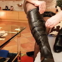 Footjob In Boots CBT
