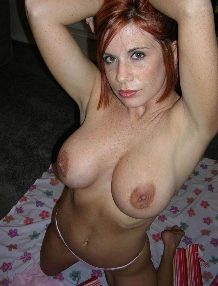 Big Boobs Redhead Stockings