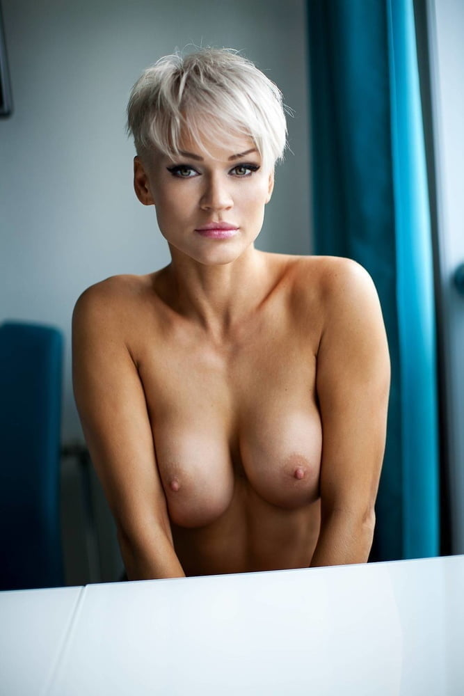 Sexy girl with short hair