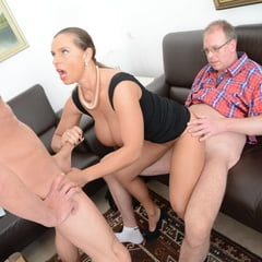 Busty German MILF First Time 3Some Fuck