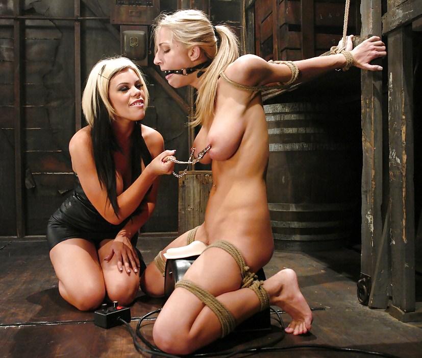 Bondage gag lesbian