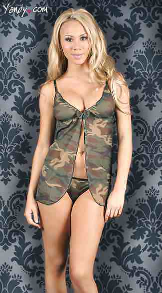 Naked north pink or snow camo lingerie mesh dress pantie baby doll s grunt force