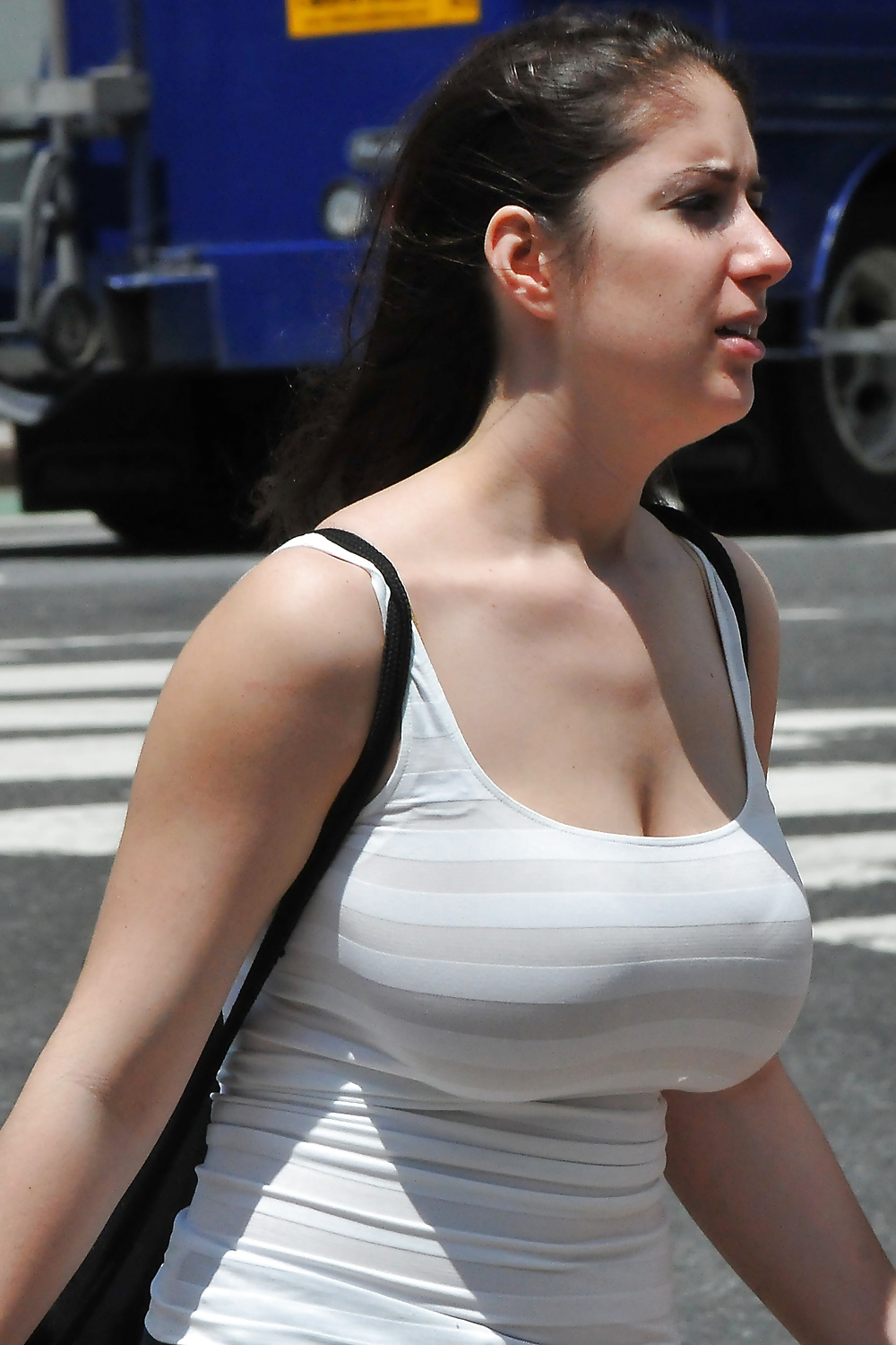 Showing boobs on facebook