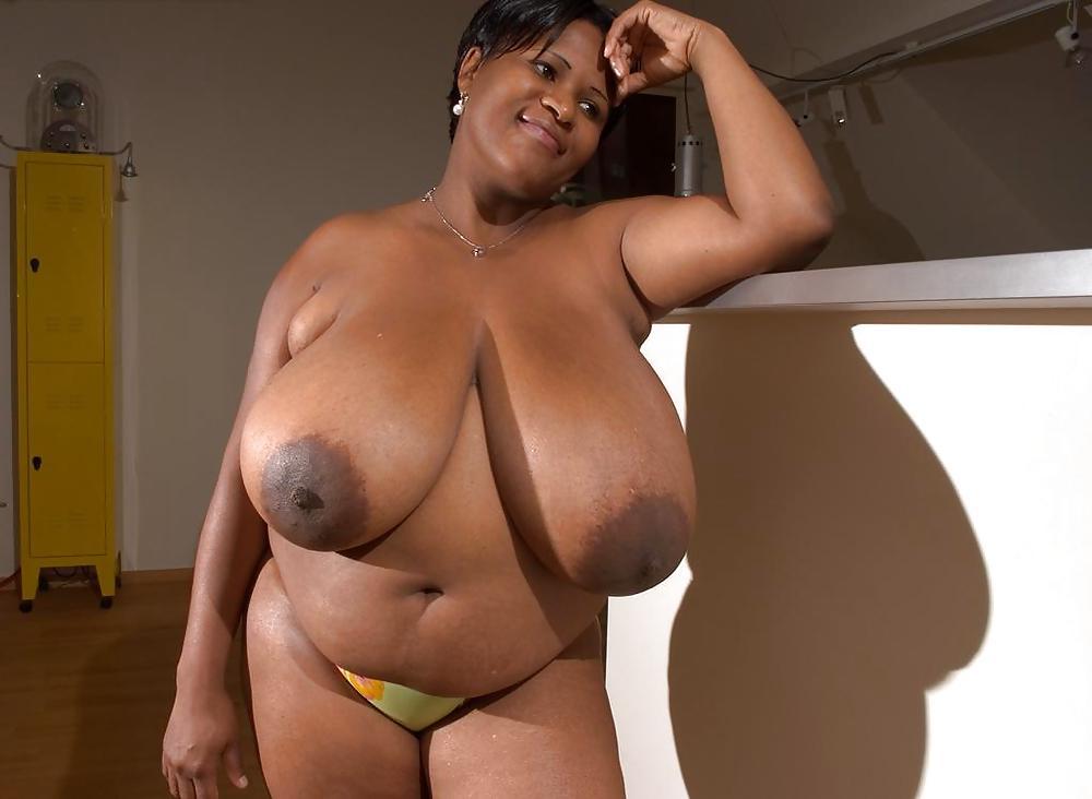 Plump black boobs