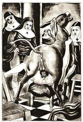 Монахиня порно рисованные картинки — 2