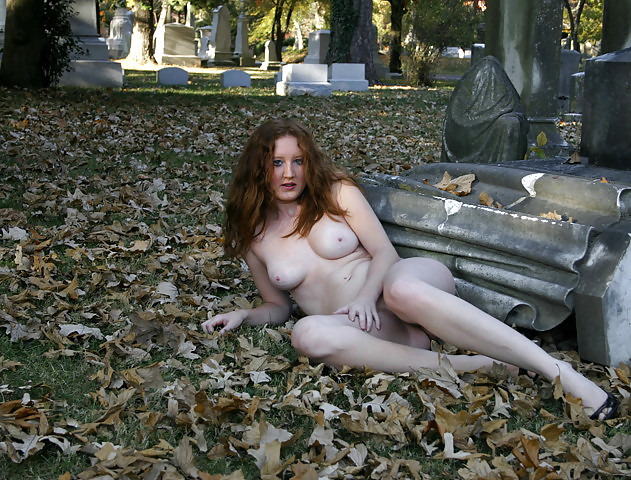 A woman has been spotted dancing topless in a graveyard sick chirpse