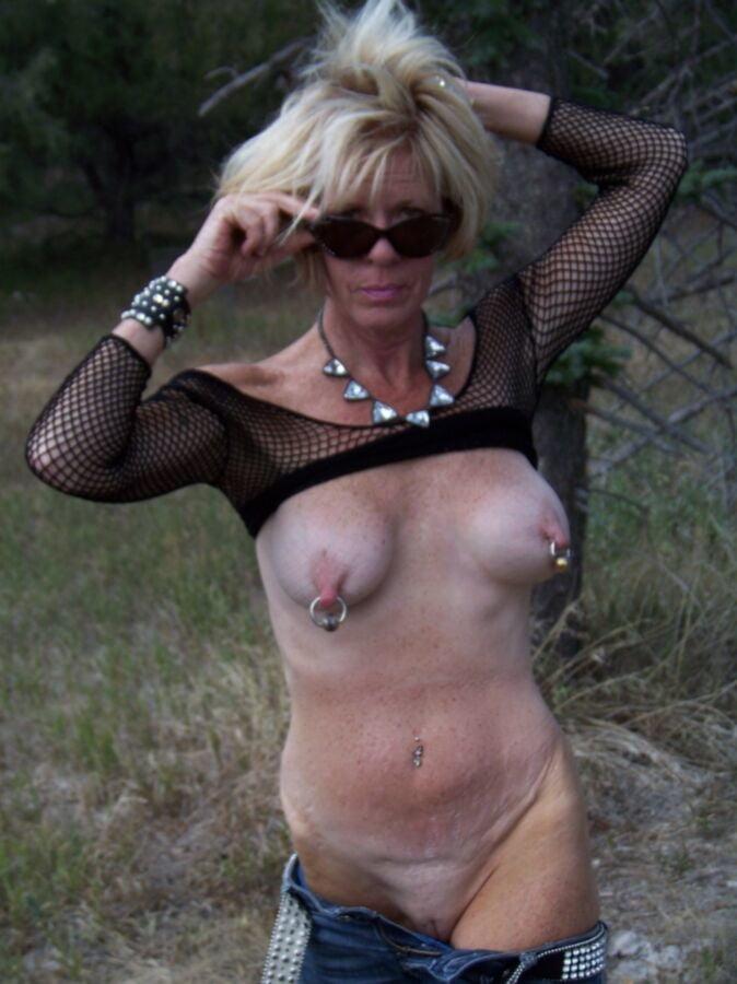 Busty Mature Pierced Tits