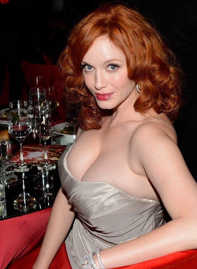 Christina Hendrick's monster tits - 60 Pics