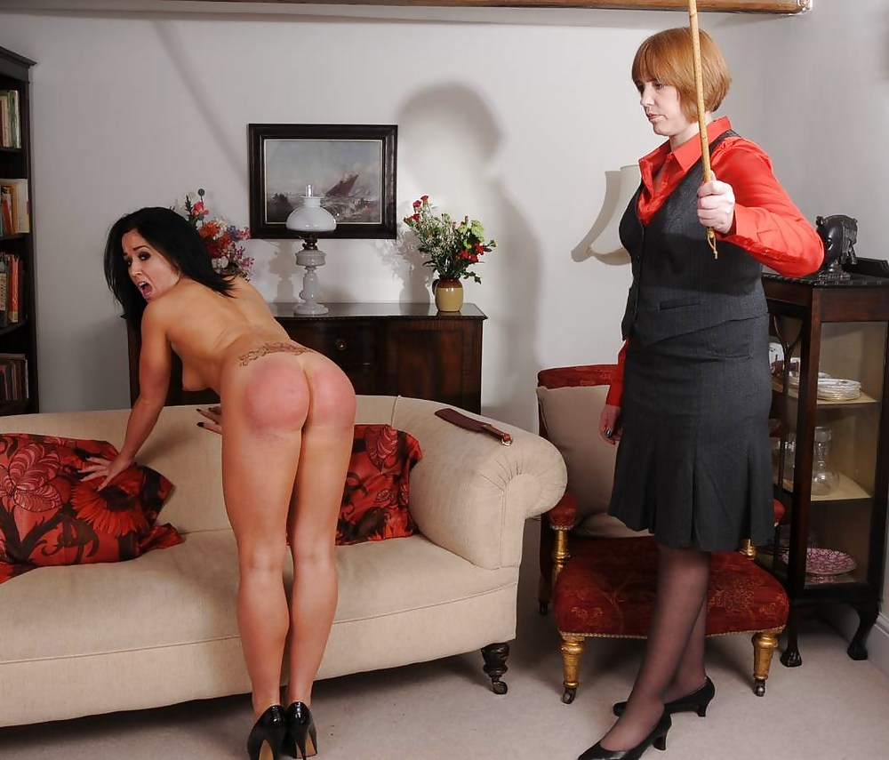 Busty girls spanked