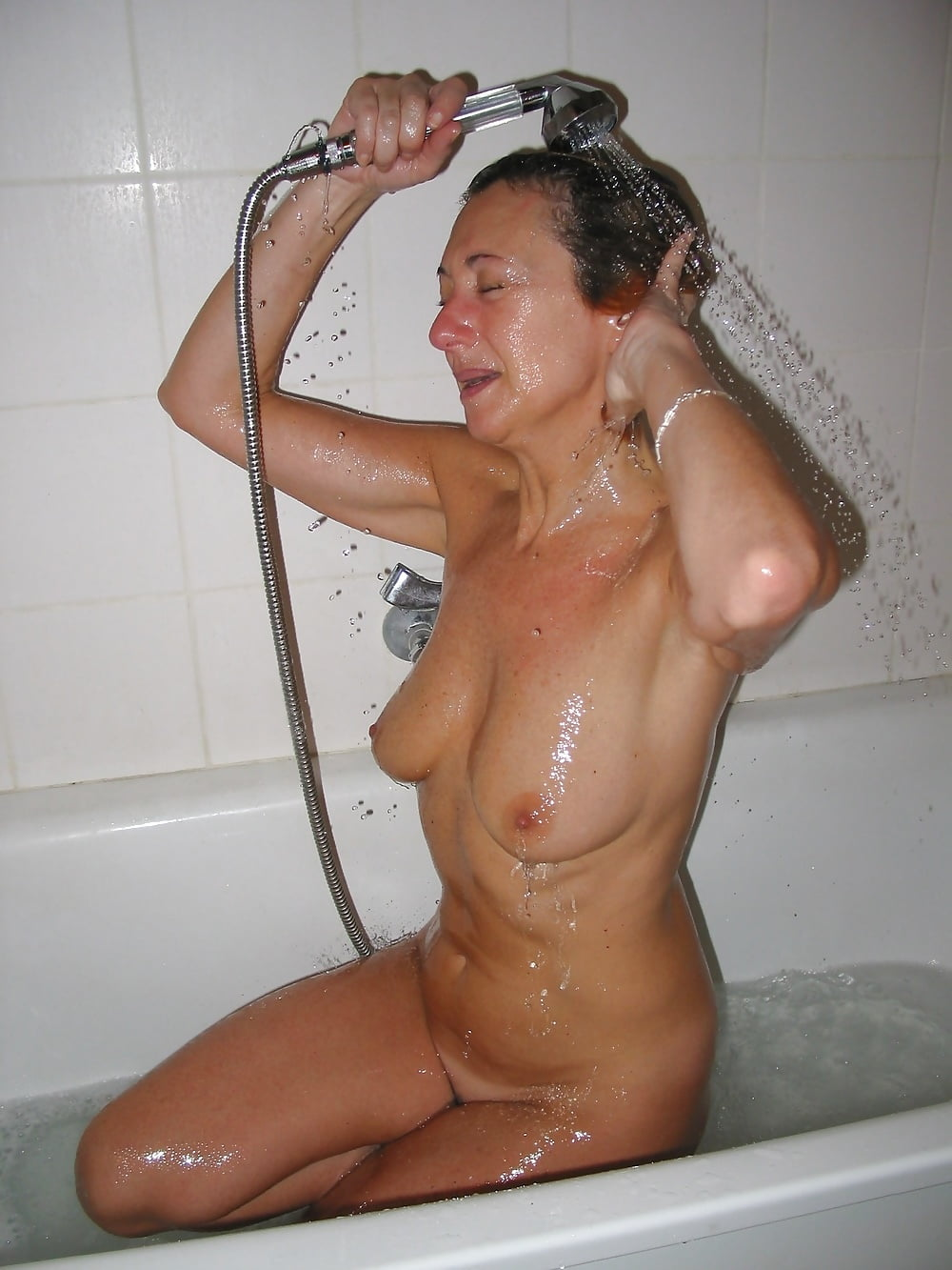 Nude housewives in showers, watch a girl fuck