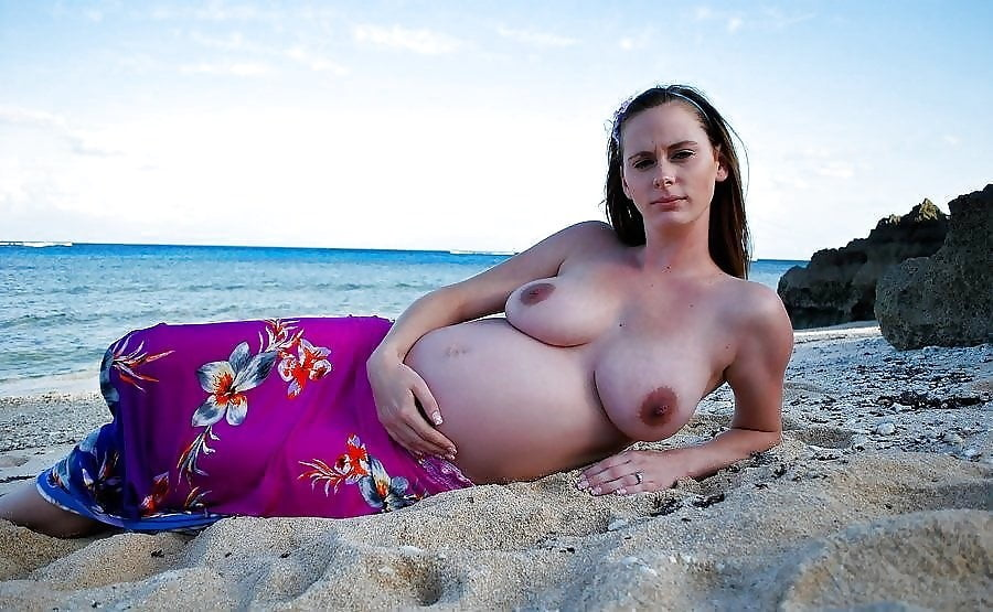 The pregnant naked on beach girls office