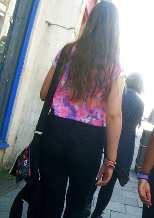 Teen in See Through Leggings