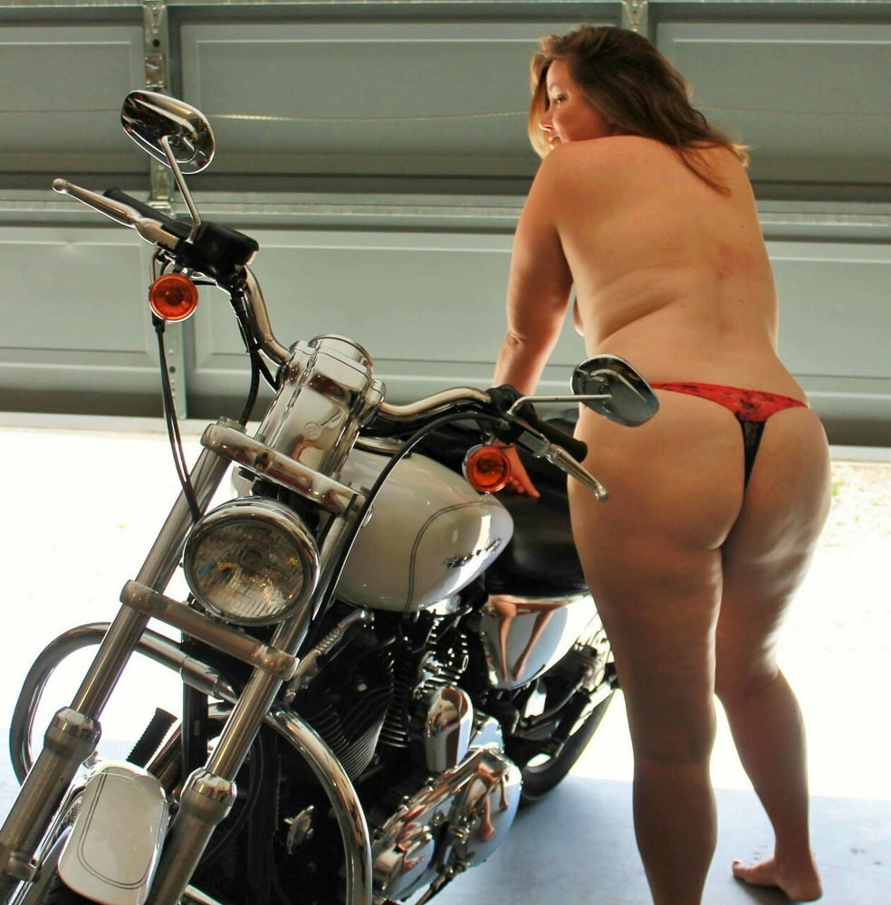 Topless milfs on motorcycles