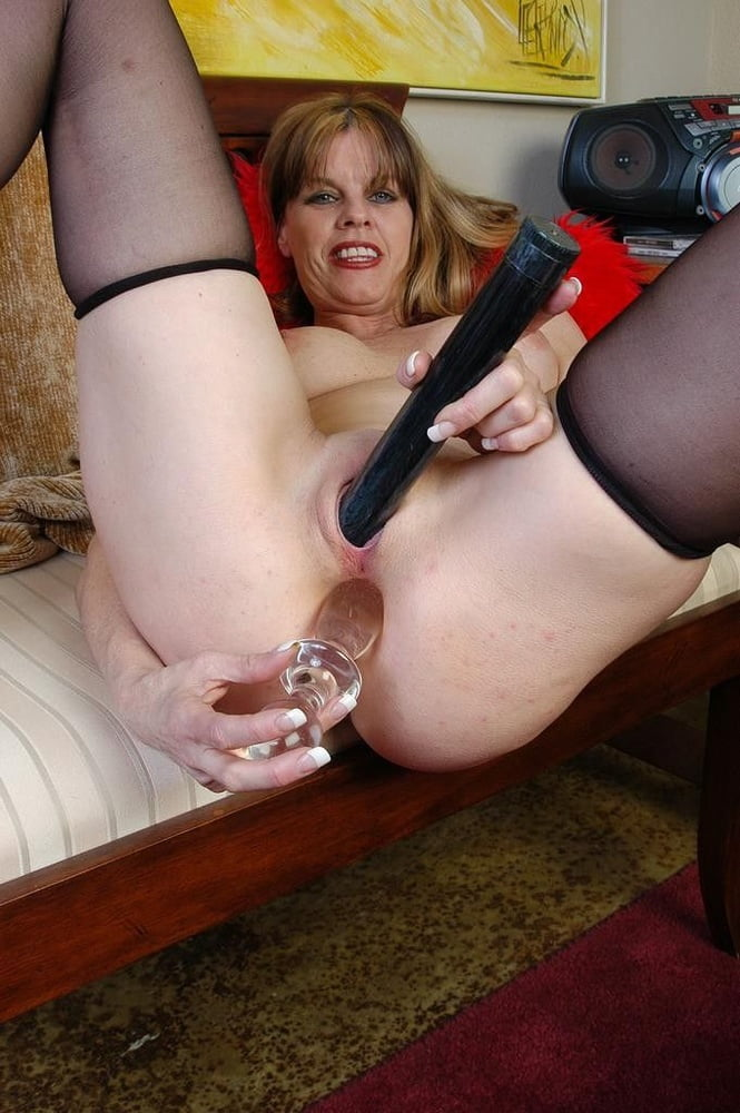 Sexy mature fucked with dildo