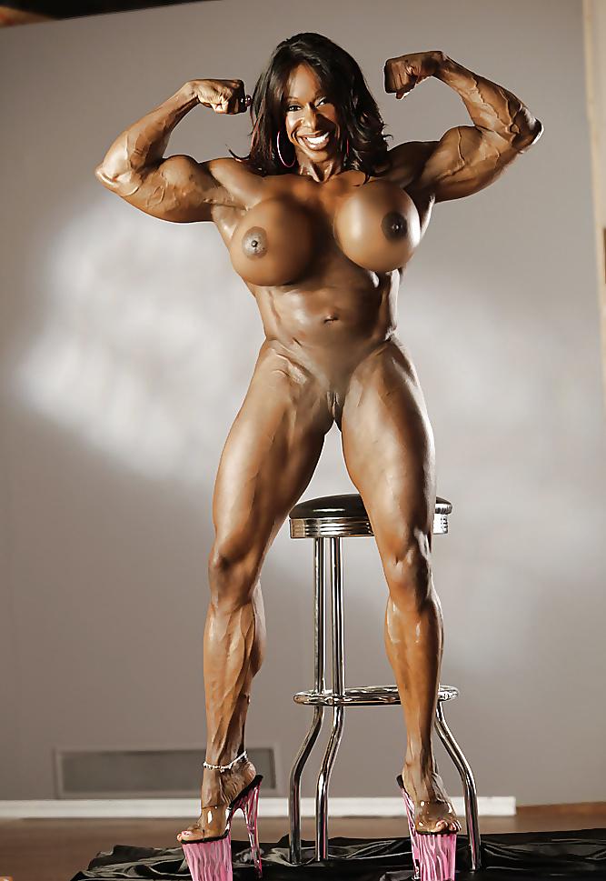 Muscular busty nude girls