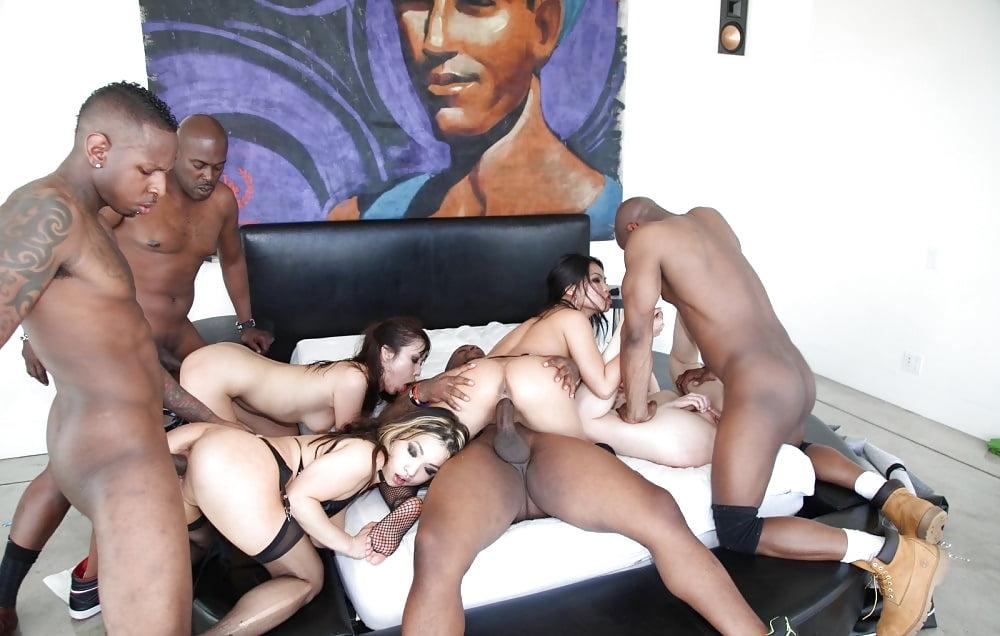Perez interracial orgy sex party