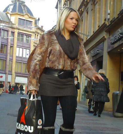voyeur candid upskirt leggy  street walkers
