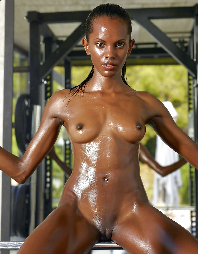 Naked black fitness models