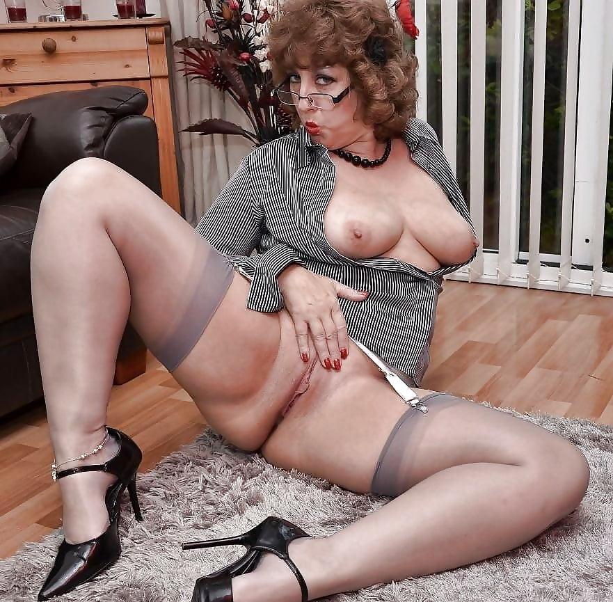 Hot mature stocking lesbians