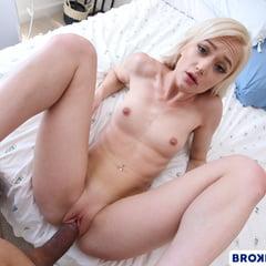 Blonde Doll Morgan Rain Rides BBC In POV