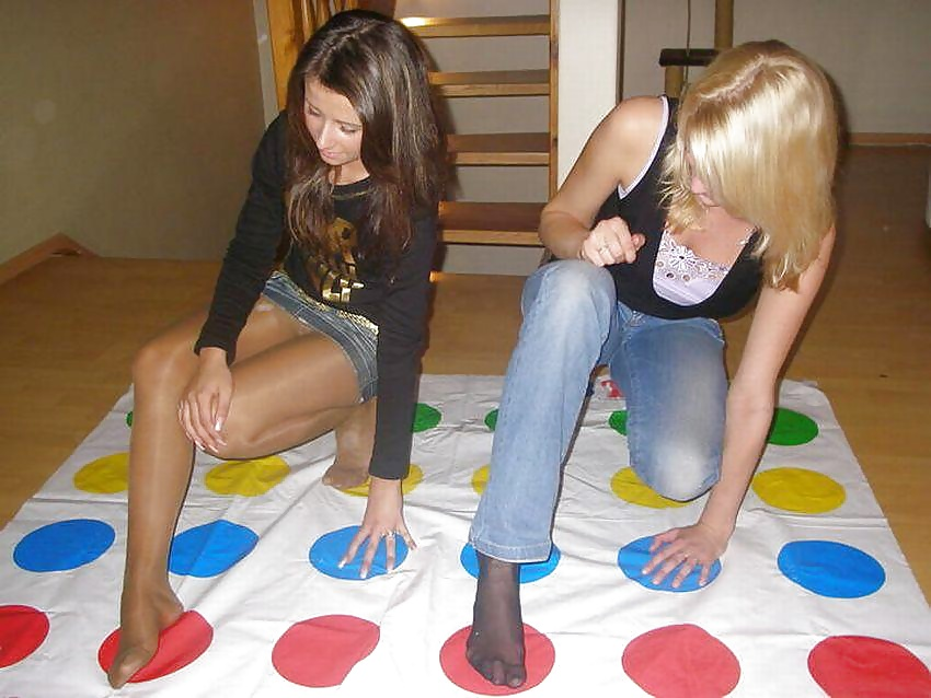 Hilton hot year old girls playing twister