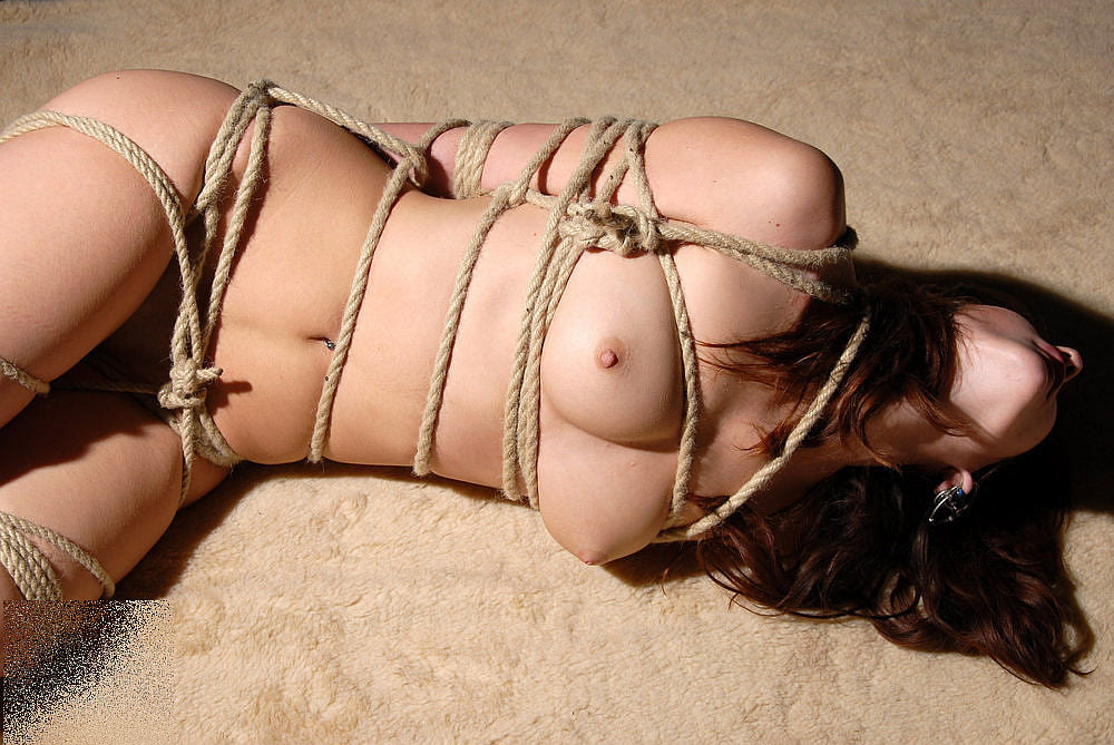 Katie thornton gorgeous breasts in some pink rope
