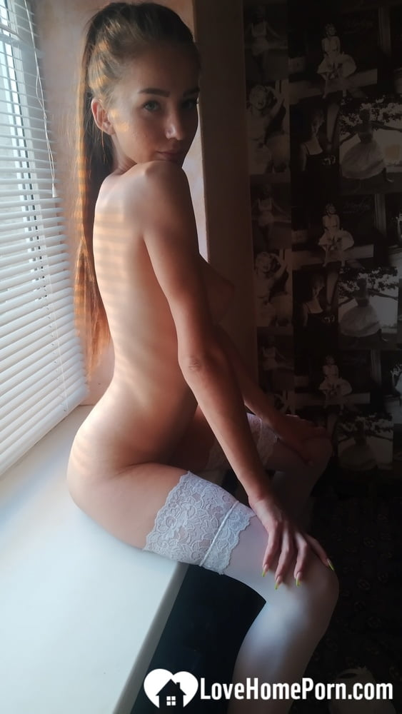 Smoking best friend in stockings loves to tease - 30 Pics