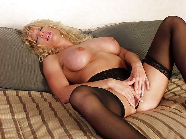 Blonde milf enjoys black