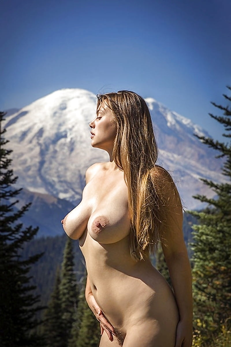 Brunette milf goes takes to the mountains