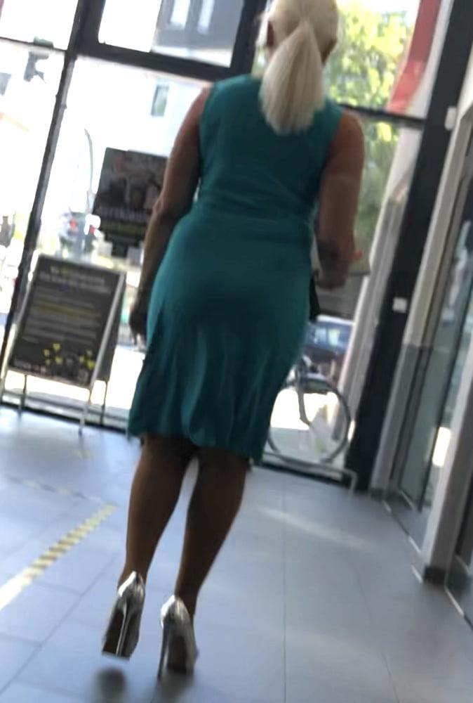 sexy blonde milf high heels
