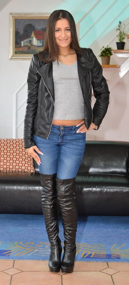 Leather jackets and leather boots #1 - 16 Pics