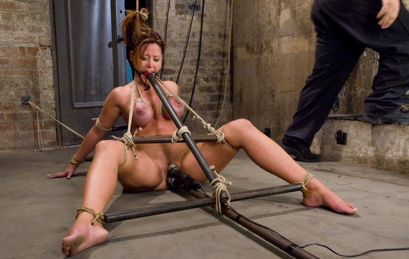 Bdsm bondage flirting sexy o ring gag with nipple clips fetish