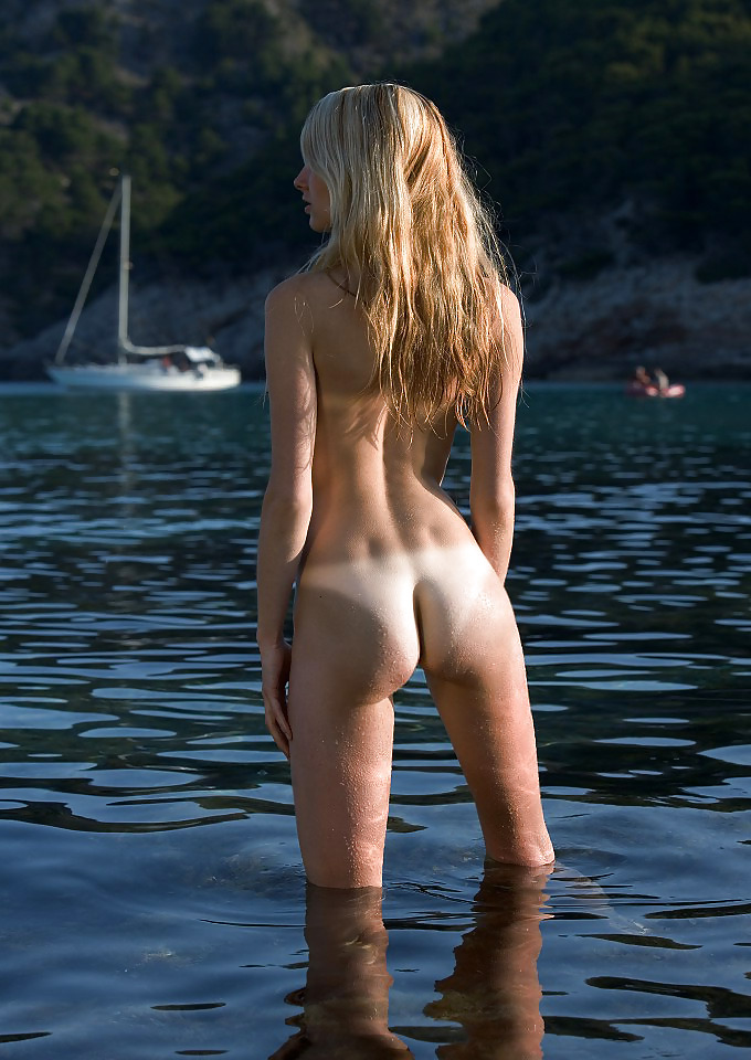 Skinny Dipping College Girl