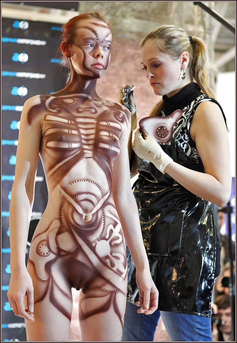 Female body paint penetration onion booty sexy