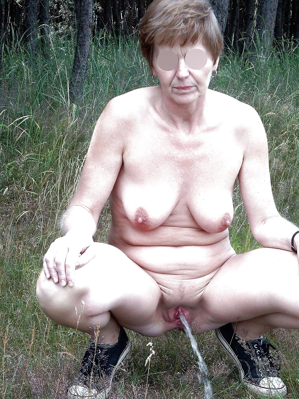 Pissing category of this granny porn site