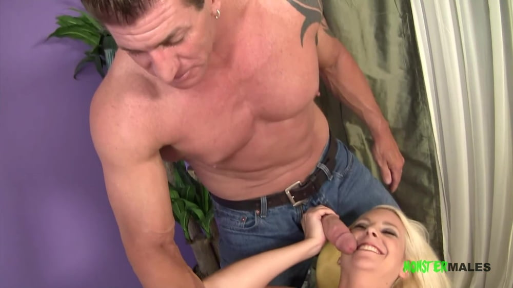Blonde Mandy fucked by a monster cock bodybuilder