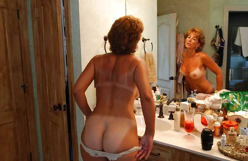Mature redhead nude milf tan lines you are
