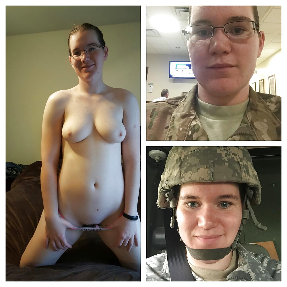 Naked average army slut, not having sex risks