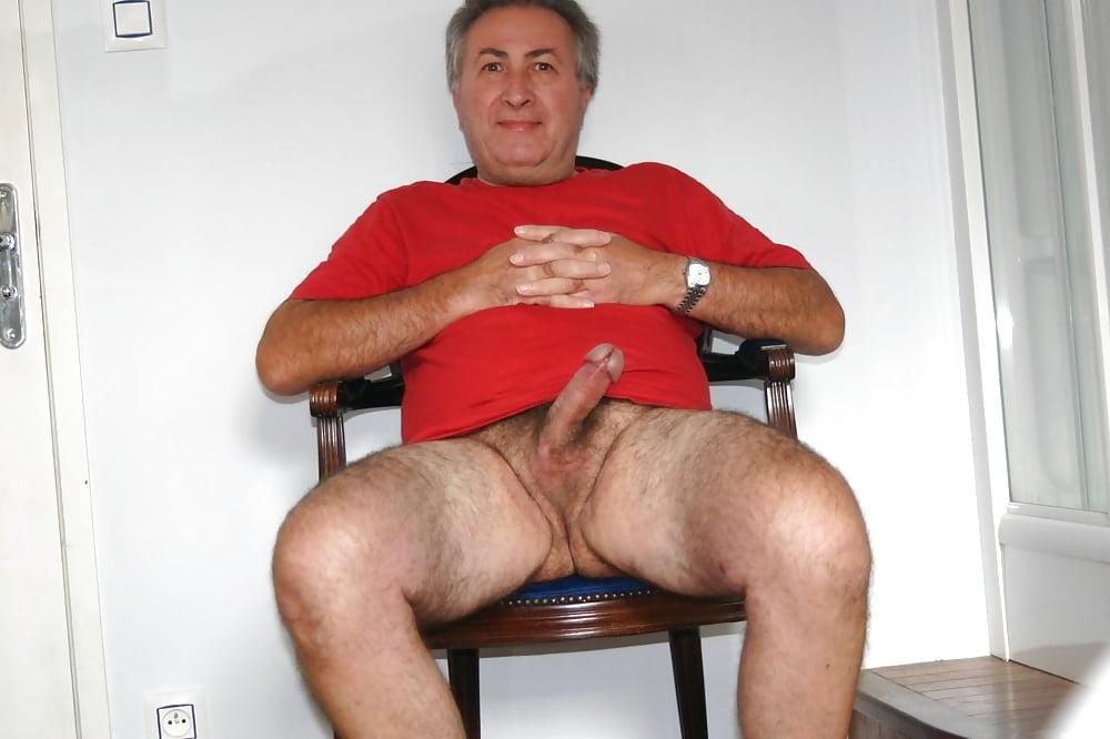 Sleeping nude old men penis
