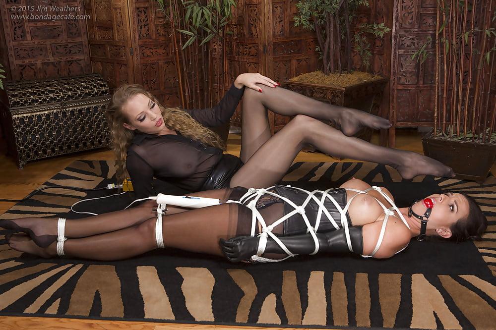 Slutload pantyhose bondage sex