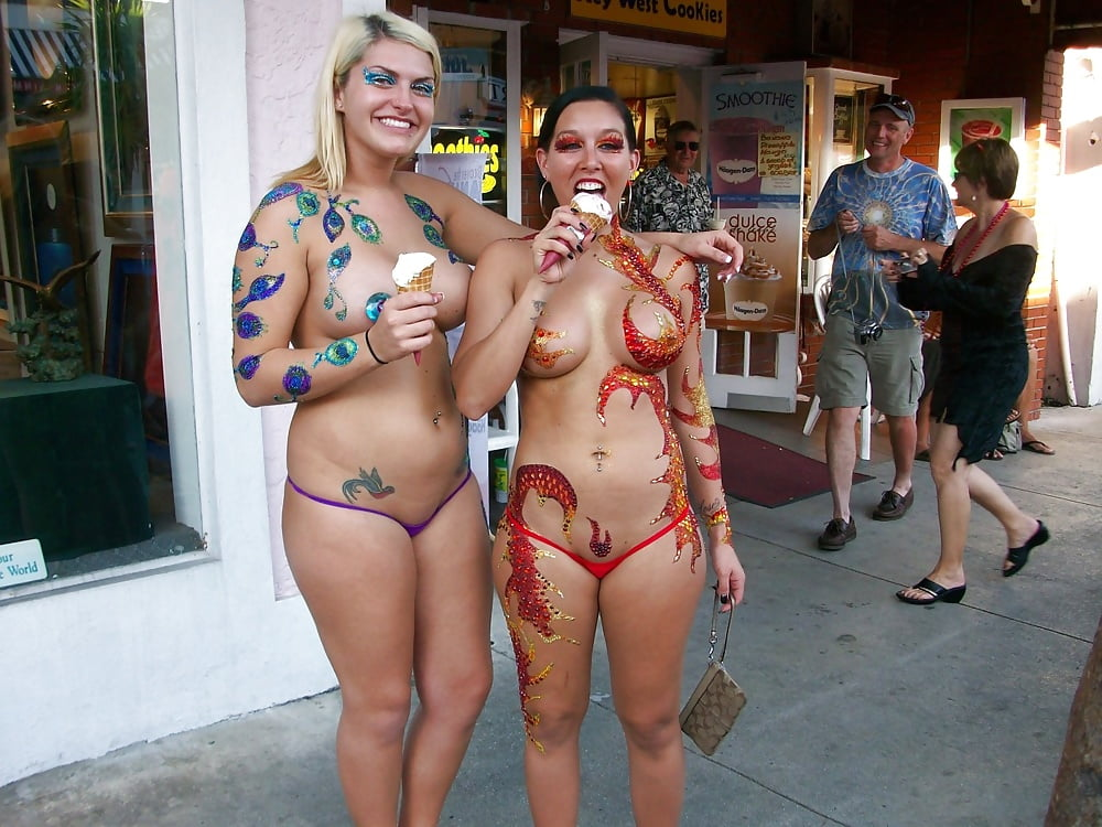 Nude key west fantasy fest paint