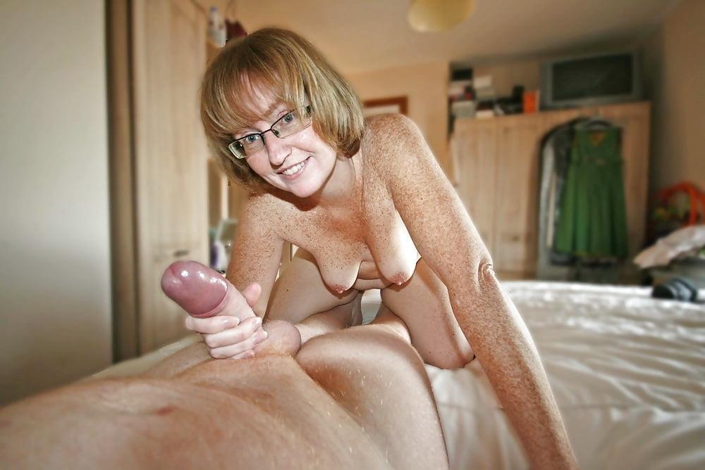 Wives giving husbands handjobs